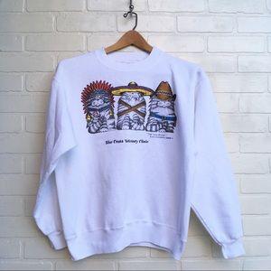 Vintage Indian Cat Trio Sweatshirt